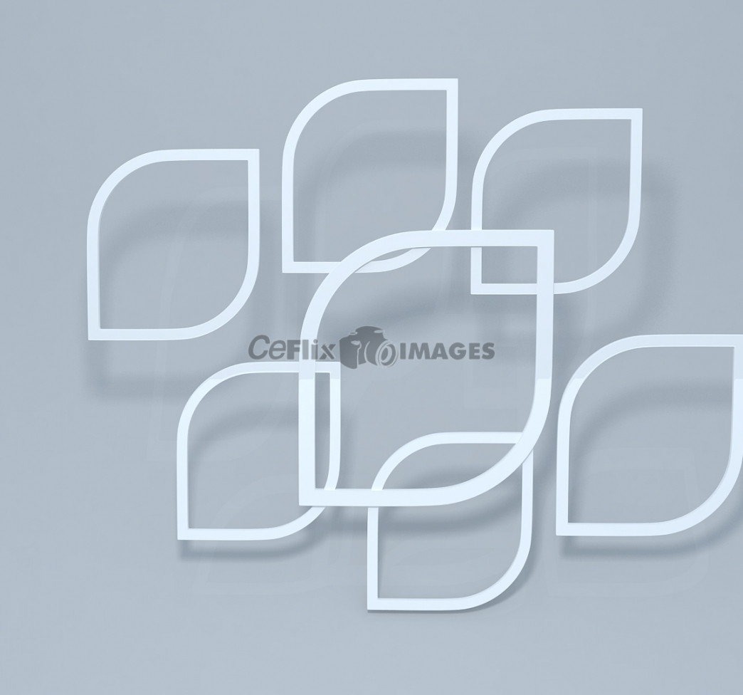 Rounded 3d squares